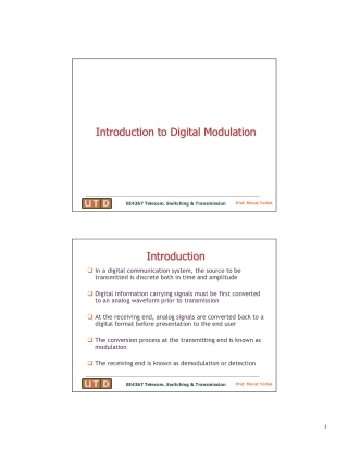 Introduction to Digital Modulation Introduction to Digital Modulation