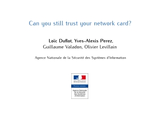 Can you still trust your network card?