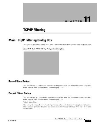 TCP/IP Filter Editor Window