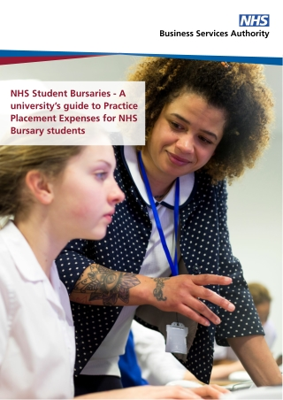 NHS Student Bursaries - A university's guide to Practice Placement Expenses for NHS Bursary students
