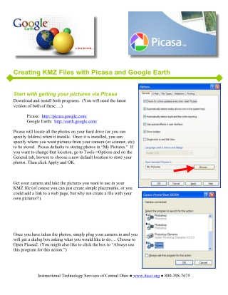 Creating KMZ Files with Picasa and Google Earth