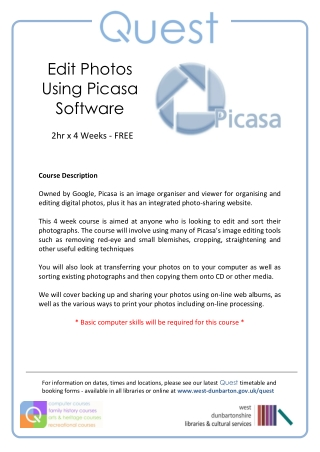 Edit Photos Using Picasa Software