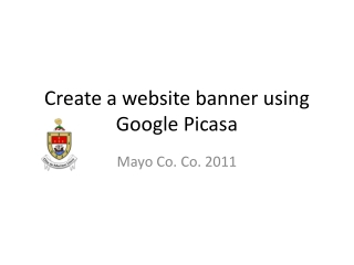 Create a website banner using Google Picasa