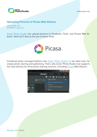 Uploading Pictures to Picasa Web Albums
