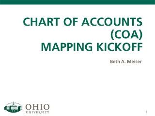 CHART OF ACCOUNTS (COA) MAPPING KICKOFF