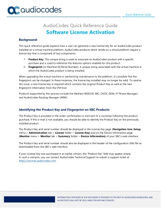 Software License Activation