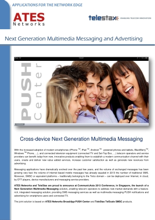 Next Generation Multimedia Messaging and Advertising