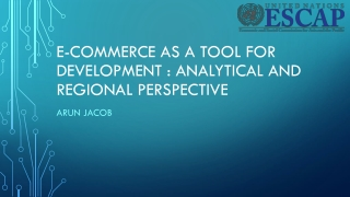 E-COMMERCE AS A TOOL FOR
