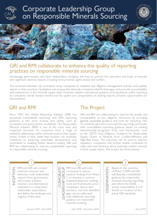Corporate Leadership Group on Responsible Minerals Sourcing