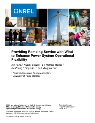 Providing Ramping Service with Wind to Enhance Power System Operational Flexibility