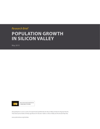 POPULATION GROWTH IN SILICON VALLEY