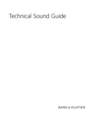 Technical Sound Guide