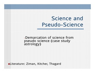 Science and d S Pseudo-Science