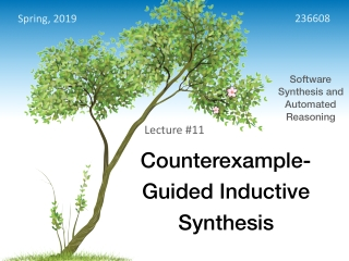 Counterexample- Guided Inductive Synthesis