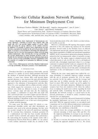 Two-tier Cellular Random Network Planning for Minimum Deployment Cost