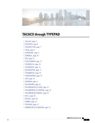 TACACS through TYPEPAD