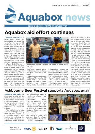aquabox aid effort continues