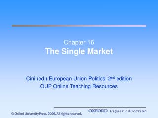 Part 16 The Single Business sector