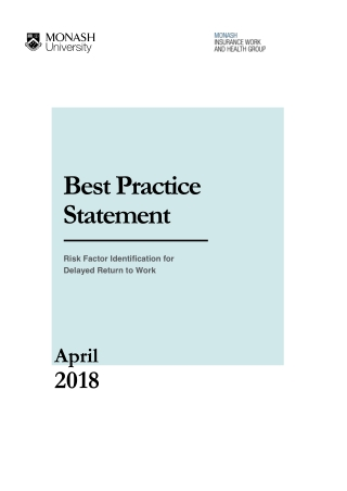 Best Practice Statement