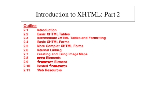 Introduction to XHTML: Part 2