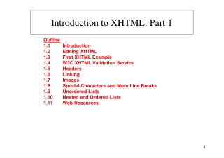 Introduction to XHTML: Part 1
