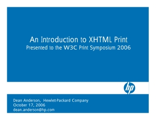 An Introduction to XHTML Print