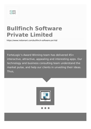 Bullfinch Software Private Limited