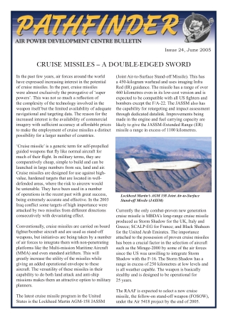 CRUISE MISSILES – A DOUBLE-EDGED SWORD