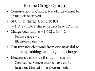 Electric Charge (Q or q)