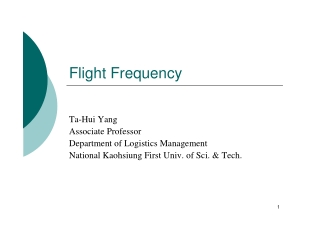 Flight Frequency