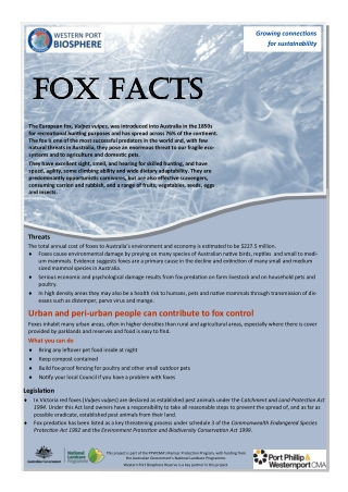 Fox Facts Fox Facts