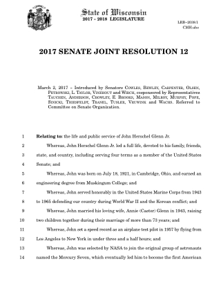 2017 SENATE JOINT RESOLUTION 12