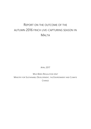 REPORT ON THE OUTCOME OF THE