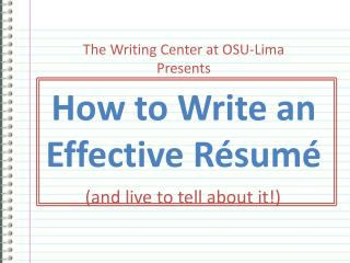 Step by step instructions to Write an Effective R whole