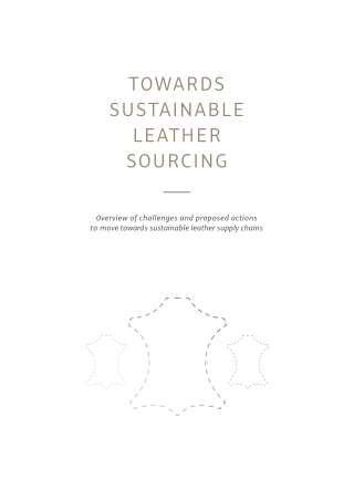 TOWARDS SUSTAINABLE LEATHER SOURCING