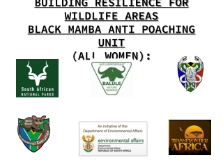BUILDING RESILIENCE FOR WILDLIFE AREAS BLACK MAMBA ANTI POACHING UNIT (ALL WOMEN):
