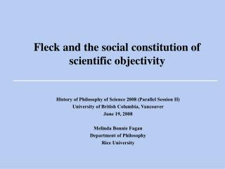 Speck and the social constitution of investigative objectivity