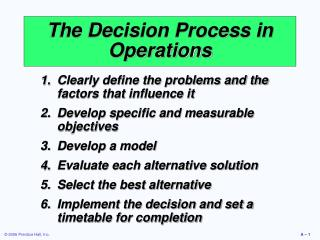 The Choice Procedure in Operations