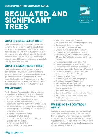 regulated and significant trees