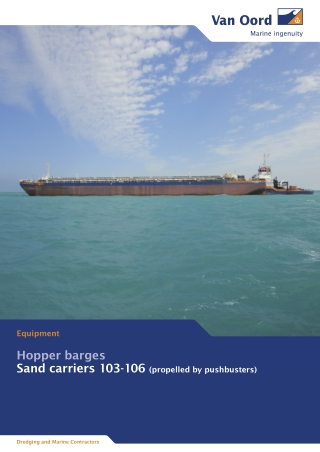 Hopper barges Sand carriers 103-106