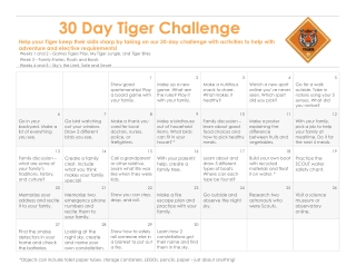 30 Day Tiger Challenge