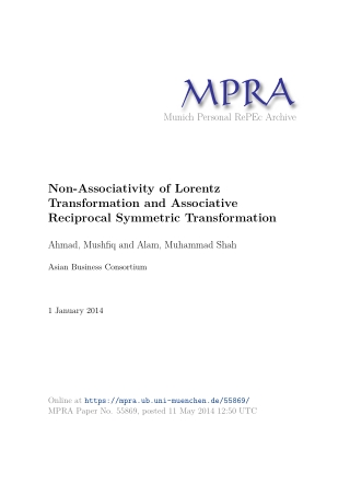 Non-Associativity of Lorentz Transformation and Associative Reciprocal Symmetric Transformation