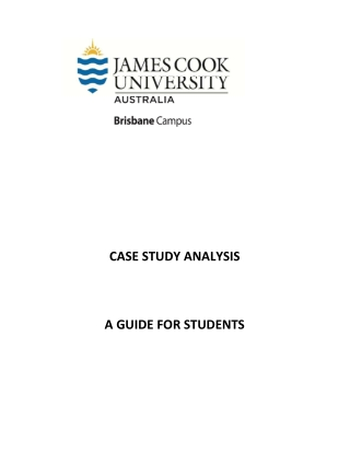 CASE STUDY ANALYSIS A GUIDE FOR STUDENTS