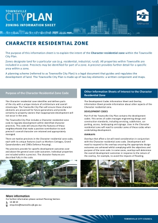 character residential zone
