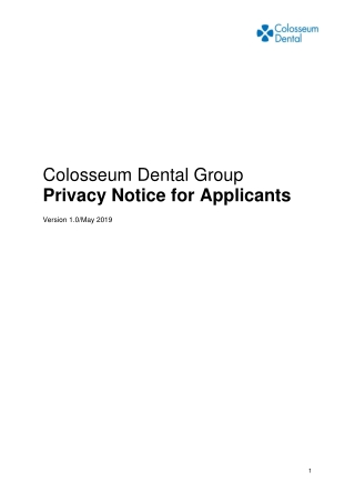 Privacy Notice for Applicants