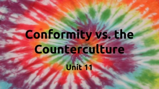 Conformity vs. the Counterculture