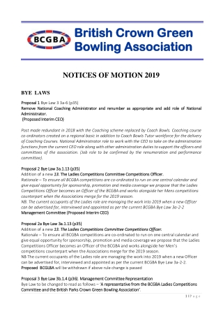 British Crown Green British Crown Green Bowling Association Bowling Association