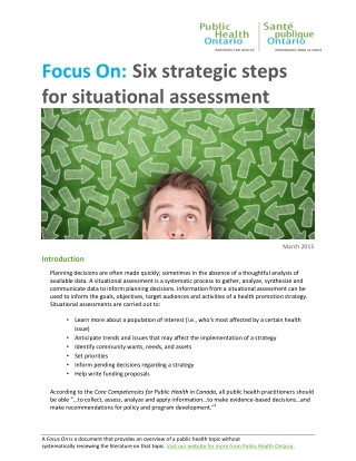 Focus On: Six strategic steps for situational assessment
