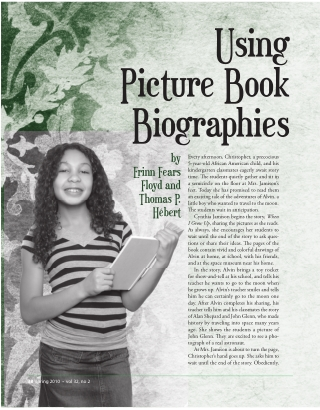 Using Picture Book Biographies
