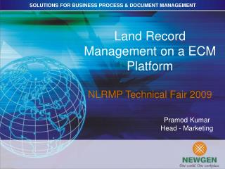 Area Record Management on an ECM Platform NLRMP Technical Fair 2009